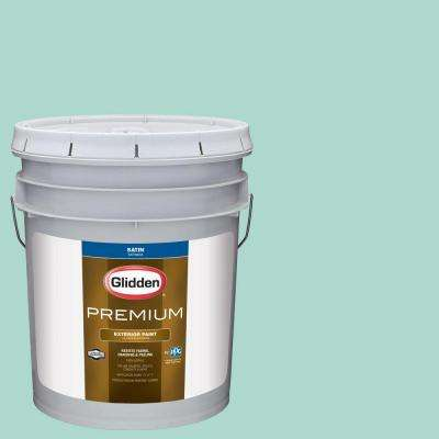 5-gal. #HDGB06 Washed Teal Satin Latex Exterior Paint