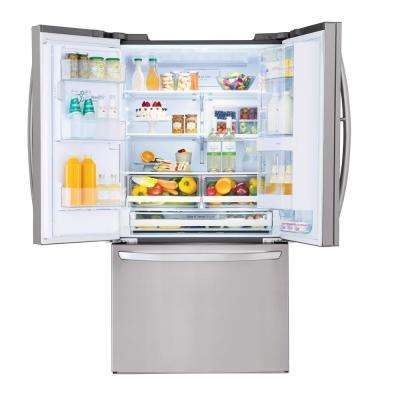 27.7 cu. ft. French Door Smart Refrigerator with Door-in-Door and WiFi Enabled in Stainless Steel