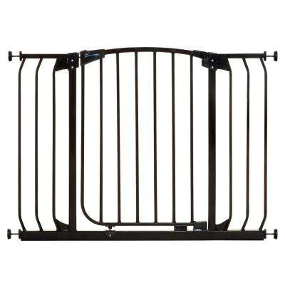 Chelsea 29.5 in. H Extra Wide Auto Close Security Gate in Black