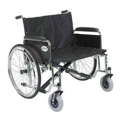 Sentra EC Heavy Duty Extra Wide Wheelchair with Detachable Full Arms