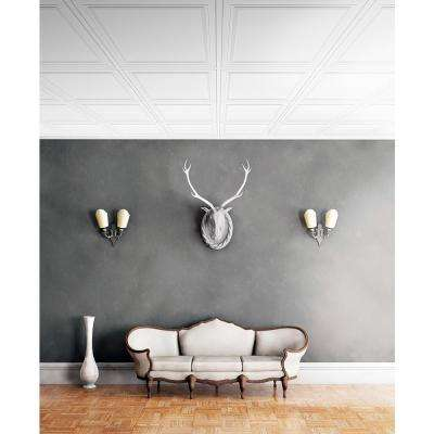 Wall Design 2 ft. x 2 ft. Flamingo Suspended Grid Panel Ceiling Tile (32 sq. ft. / case)