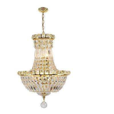 Empire Collection 6-Light Gold Crystal Chandelier