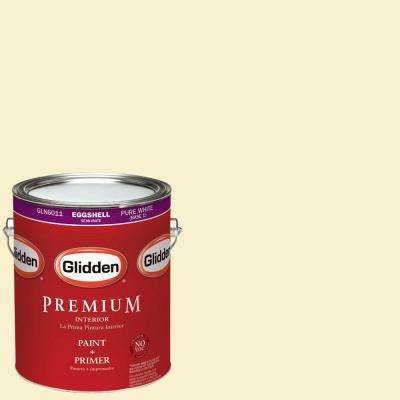 1-gal. #HDGY30 Candlelight Yellow Eggshell Latex Interior Paint with Primer