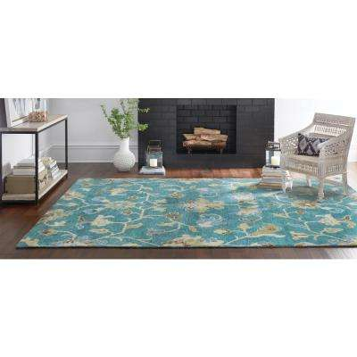 Montpellier Teal 5 ft. x 8 ft. Area Rug
