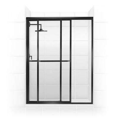 Paragon Series 52 in. x 70 in. Framed Sliding Shower Door with Towel Bar in Oil Rubbed Bronze and Clear Glass