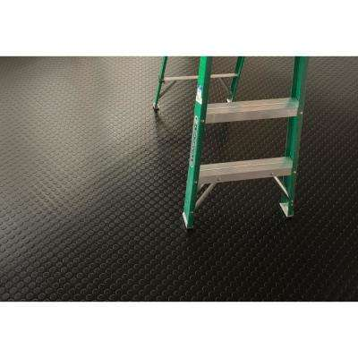 Coin 8.5 ft. x 22 ft. Midnight Black Commercial Grade Vinyl Garage Flooring Cover and Protector