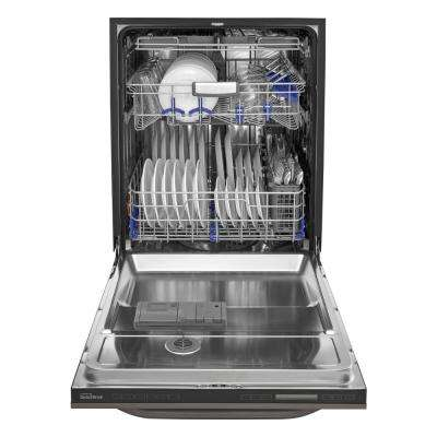 Top Control Dishwasher in Black Stainless Steel with TrueSteam