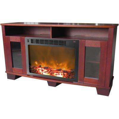 Savona 59 in. Electric Fireplace in Mahogany