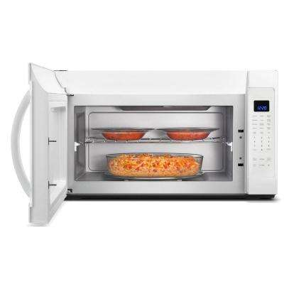 2.1 cu. ft. Over the Range Microwave in White with Steam Cooking