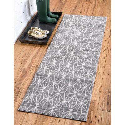 Uptown Collection by Jill Zarin™ Fifth Avenue Gray 2' 2 x 6' 0 Runner Rug