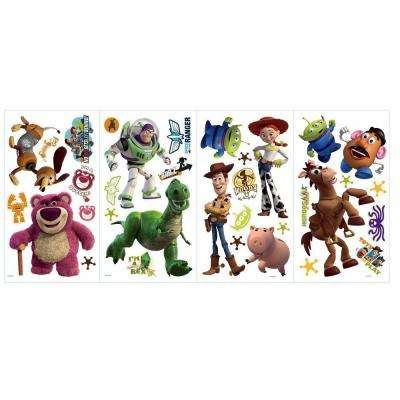 5 in. x 11.5 in. Toy Story 3 Peel and Stick Wall Decals (33-Piece)