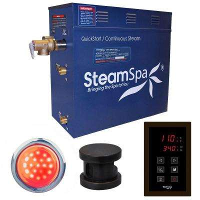 Indulgence 7.5kW QuickStart Steam Bath Generator Package in Polished Oil Rubbed Bronze