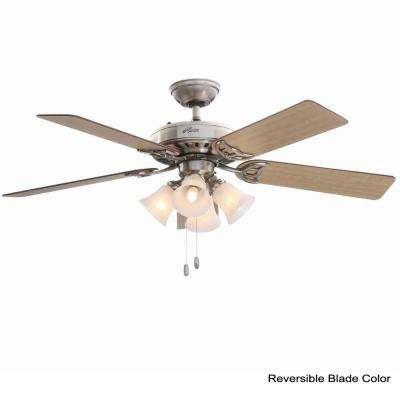 Studio Series 52 in. Indoor Brushed Nickel Ceiling Fan with Light Kit