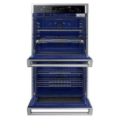 30 in. Double Electric Wall Oven with Steam Cook and True Convection in Stainless Steel