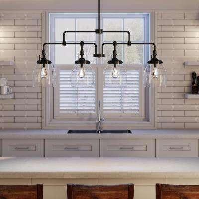 W 4 Light Heirloom Bronze Kitchen Island Lights