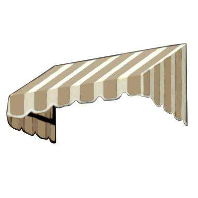 12 ft. San Francisco Window Awning (44 in. H x 24 in. D) in Linen/White Stripe