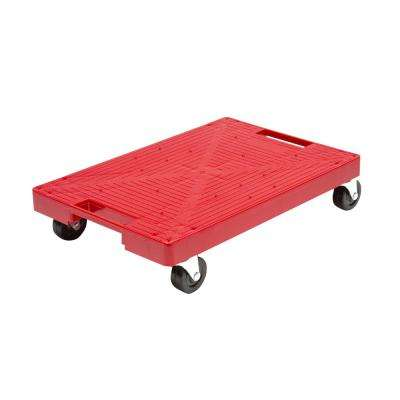 16 in. x 11 in. Multi-Purpose Red Garage Dolly