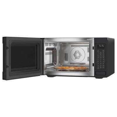 1.5 cu. ft. Smart Countertop Convection Microwave with Sensor Cooking in Matte Black, Fingerprint Resistant