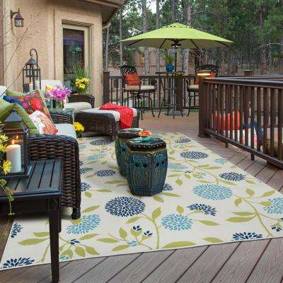 Aster Beige 7 ft. x 10 ft. Outdoor Area Rug