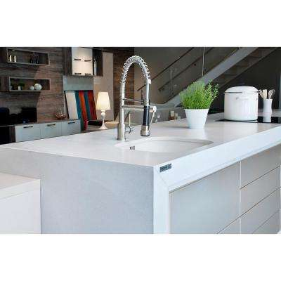 2 in. x 4 in. Quartz Countertop Sample in White Storm