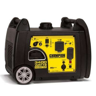 3,400-Watt Gasoline Powered Recoil Start Portable Inverter Generator with Parallel Capability