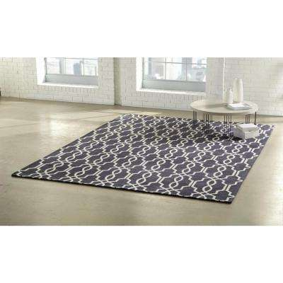 Kingston Navy/Ivory 9 ft. x 12 ft. Indoor Area Rug