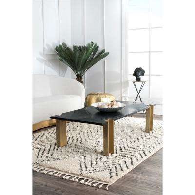 Amanda Moroccan Chevron Tassel Off White 2 ft. 8 in. x 8 ft. Runner Rug
