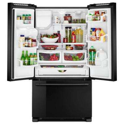 25 cu. ft. French Door Refrigerator in Black with POWER COLD Feature