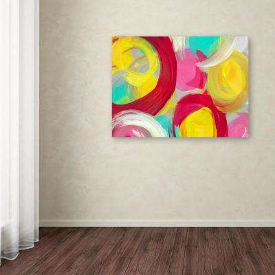 "14 in. x 19 in. ""Rose Garden Circles 1"" by Amy Vangsgard Printed Canvas Wall Art"