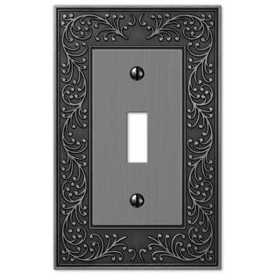 Eng 1 Toggle Wall Plate - Antique Nickel