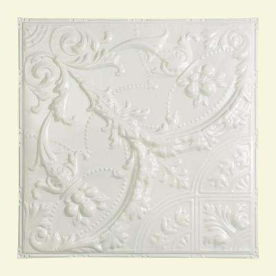 Saginaw 2 ft. x 2 ft. Nail-up Tin Ceiling Tile in Gloss White