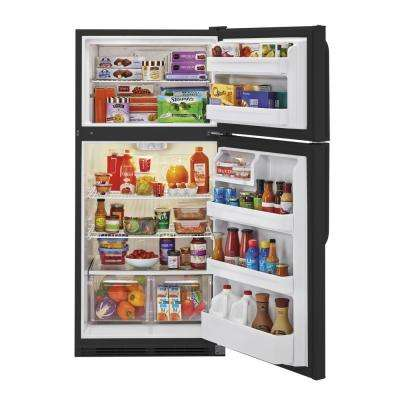 18.1 cu. ft. Top Freezer Refrigerator in Black