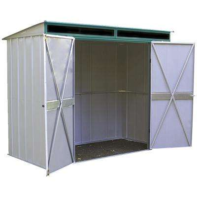 Eurolite Lean Too 8 ft. W x 4 ft. D Galvanized Metal Storage Shed