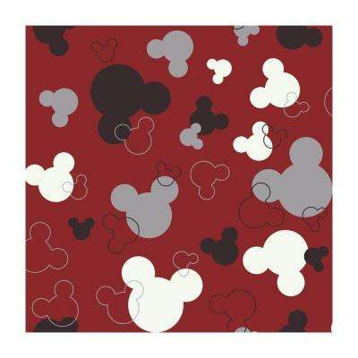 56 sq. ft. Mickey Mouse Heads Wallpaper
