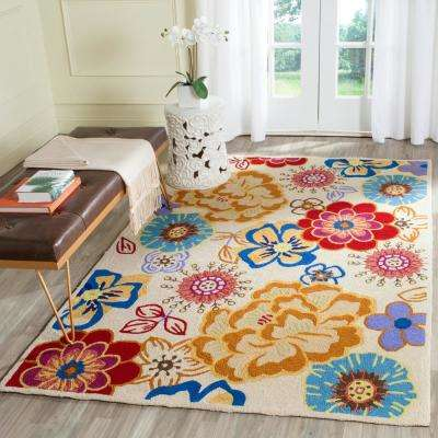 Four Seasons Ivory/Multi 5 ft. x 7 ft. Indoor/Outdoor Area Rug