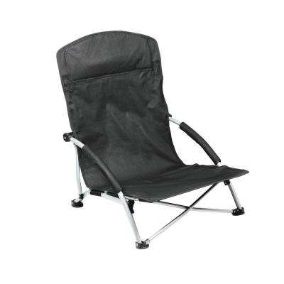 Black Tranquility Portable Beach Patio Chair