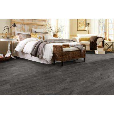 Scorched Walnut Charcoal 12 ft. Wide Residential Vinyl Sheet