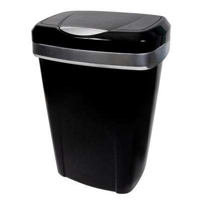 13 Gal. Black Premium Touch Lid Trash Can