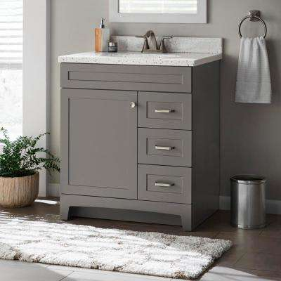Thornbriar 30 in. W x 21 in. D Bathroom Vanity Cabinet in Cement