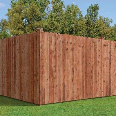 1 in. x 6 in. x 6 ft. Pressure-Treated Cedar-Tone Dog-Ear Fence Picket