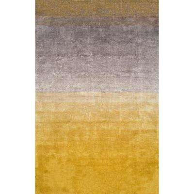 Ombre Shag Yellow 5 ft. x 8 ft. Area Rug