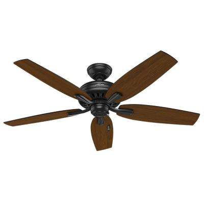 Newsome 52 in. Indoor/Outdoor Matte Black Ceiling Fan