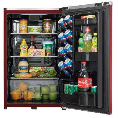 24 in. W 4.4 cu. ft. Freezerless Refrigerator in Metallic Red, Counter Depth