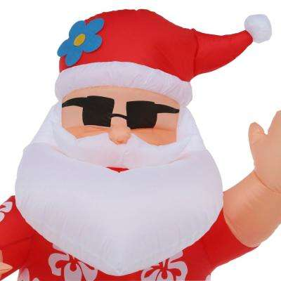 6 ft. Pre-Lit LED Life Size Inflatable Dancing Hula Santa
