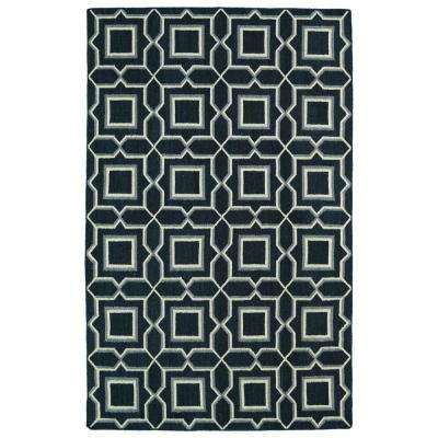 Glam Charcoal 8 ft. x 10 ft. Area Rug