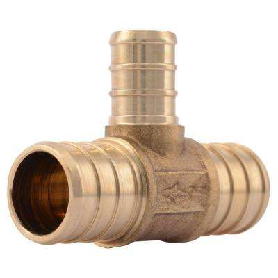 3/4 in. x 3/4 in. x 1/2 in. Brass PEX Barb x Barb x Barb Reducer Tee