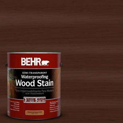 1-gal. #ST-117 Russet Semi-Transparent Waterproofing Wood Stain