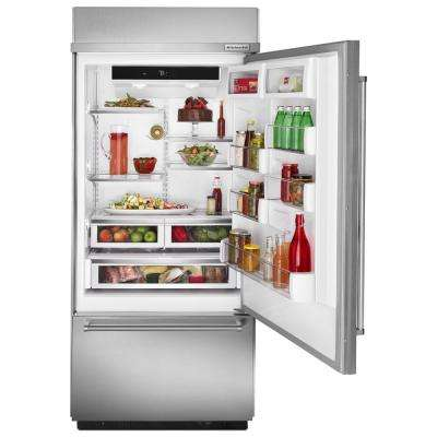 20.9 cu. ft. Built-In Bottom Freezer Refrigerator in Stainless Steel