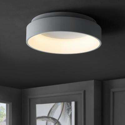 Ring 17.7 in. White Integrated LED Flush Mount Ceiling Light