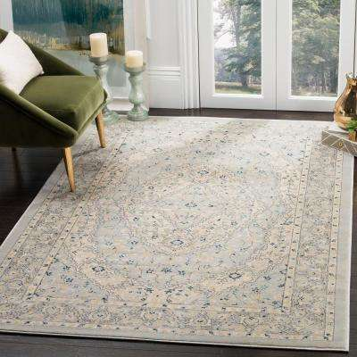 Evoke Light Gray/Cream 7 ft. x 7 ft. Square Area Rug